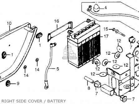 honda cb550k 1978 usa parts lists and schematics