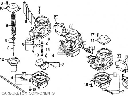 Honda Cb550sc Nighthawk 1983 d Usa Carburetor Components