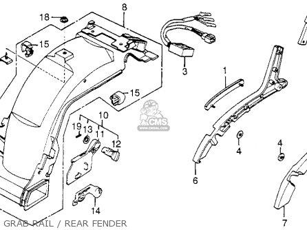 honda cb550sc nighthawk 1983  d  usa parts list