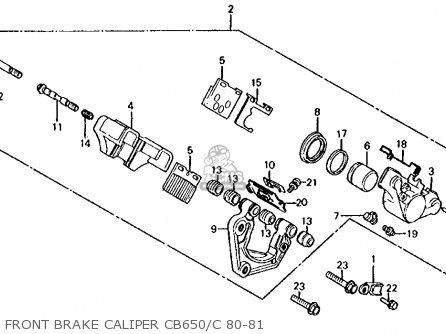 Honda CB650 1981 (B) USA parts lists and schematics on