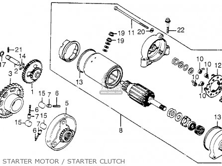 Honda Cb650sc 1983 Nighthawk 650 Usa Starter Motor   Starter Clutch