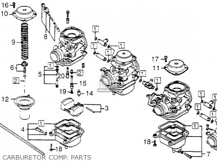 Honda Cb650sc Nighthawk 1983 d Usa Carburetor Comp  Parts
