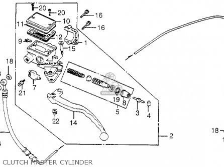 Honda Cb650sc Nighthawk 1983 d Usa Clutch Master Cylinder