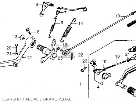 Honda Cb650sc Nighthawk 1983 d Usa Gearshift Pedal   Brake Pedal