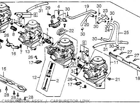 Honda Cb650sc Nighthawk 650 1983 d Usa Carburetor Assy     Carburetor Link