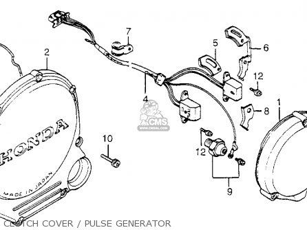 Honda Cb650sc Nighthawk 650 1983 d Usa Clutch Cover   Pulse Generator