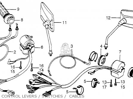 Honda Cb650sc Nighthawk 650 1983 d Usa Control Levers   Switches    Cables