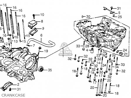 Honda Cb650sc Nighthawk 650 1983 d Usa Crankcase