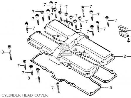 Honda Cb650sc Nighthawk 650 1983 d Usa Cylinder Head Cover