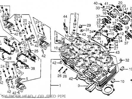 Honda Cb650sc Nighthawk 650 1983 d Usa Cylinder Head   Oil Feed Pipe