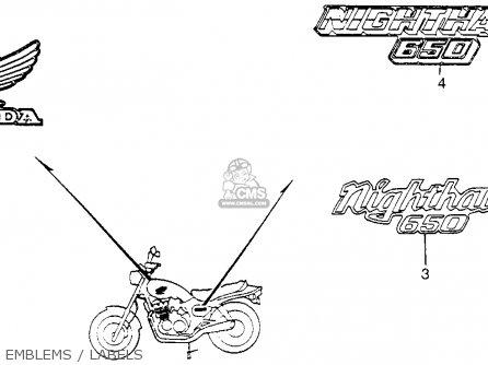 Honda Cb650sc Nighthawk 650 1983 d Usa Emblems   Labels