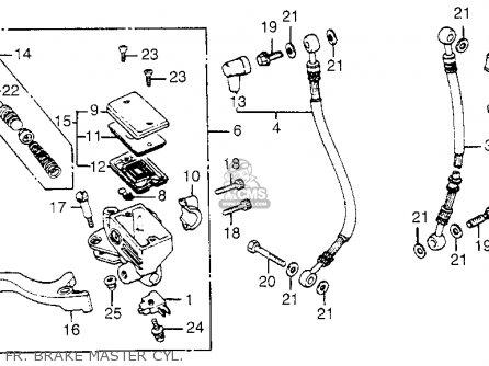 Honda Cb650sc Nighthawk 650 1983 d Usa Fr  Brake Master Cyl