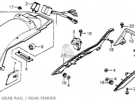 Honda Cb650sc Nighthawk 650 1983 d Usa Grab Rail   Rear Fender