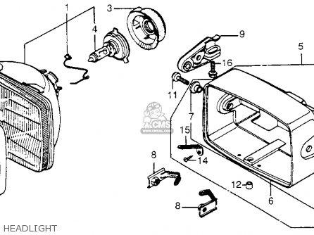 Honda Cb650sc Nighthawk 650 1983 d Usa Headlight