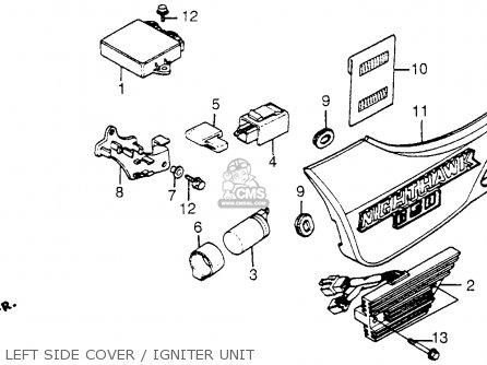 Honda Cb650sc Nighthawk 650 1983 d Usa Left Side Cover   Igniter Unit
