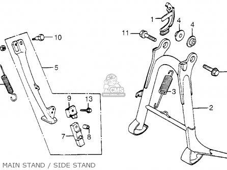 Honda Cb650sc Nighthawk 650 1983 d Usa Main Stand   Side Stand