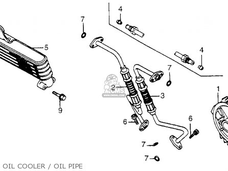 Honda Cb650sc Nighthawk 650 1983 d Usa Oil Cooler   Oil Pipe