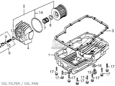 Honda Cb650sc Nighthawk 650 1983 d Usa Oil Filter   Oil Pan