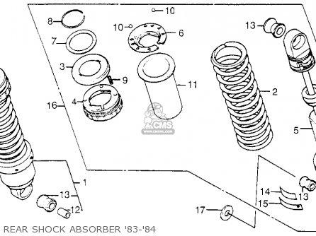 Honda Cb650sc Nighthawk 650 1983 d Usa Rear Shock Absorber 83-84