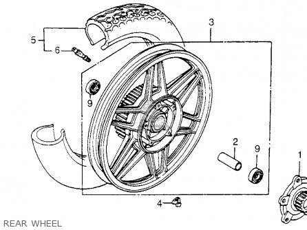 Honda Cb650sc Nighthawk 650 1983 d Usa Rear Wheel