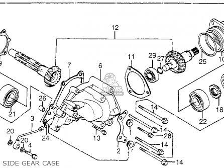 Honda Cb650sc Nighthawk 650 1983 d Usa Side Gear Case