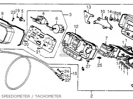 Honda Cb650sc Nighthawk 650 1983 d Usa Speedometer   Tachometer