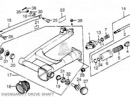 Honda Cb650sc Nighthawk 650 1983 d Usa Swingarm   Drive Shaft