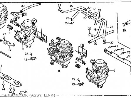 Honda Cb700sc 1986 Nighthawk S Usa Carburetor assy  Link