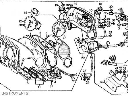 Honda Cb700sc 1986 Nighthawk S Usa Instruments