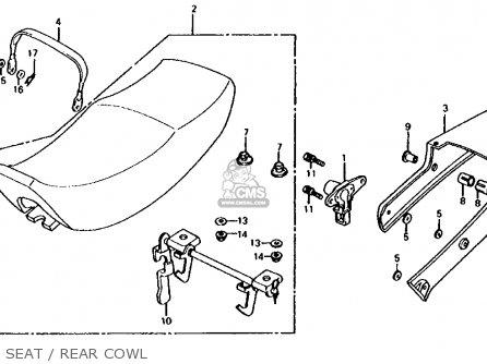 Honda Cb700sc 1986 Nighthawk S Usa Seat   Rear Cowl