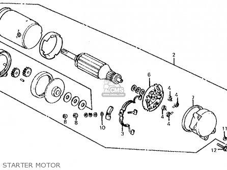 Honda Cb700sc 1986 Nighthawk S Usa Starter Motor
