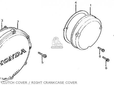 Honda Cb700sc Nighthawk S 1986 g Usa Clutch Cover   Right Crankcase Cover