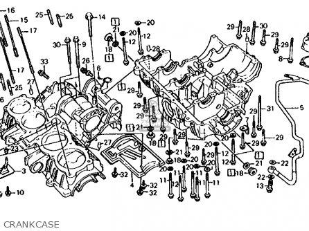 Honda Cb700sc Nighthawk S 1986 g Usa Crankcase
