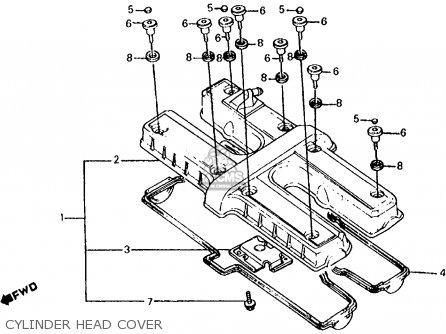 Honda Cb700sc Nighthawk S 1986 g Usa Cylinder Head Cover