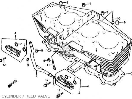 Honda Cb700sc Nighthawk S 1986 g Usa Cylinder   Reed Valve