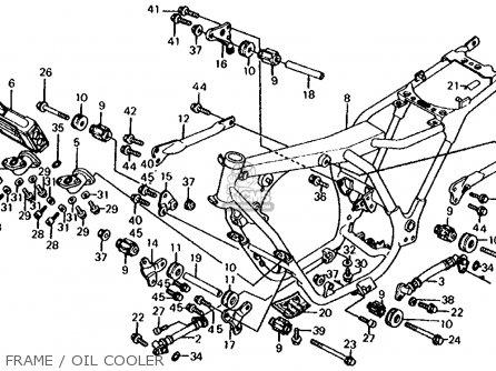 Honda Cb700sc Nighthawk S 1986 g Usa Frame   Oil Cooler