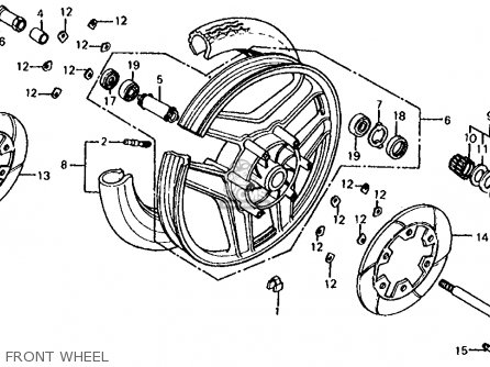 Honda Cb700sc Nighthawk S 1986 g Usa Front Wheel