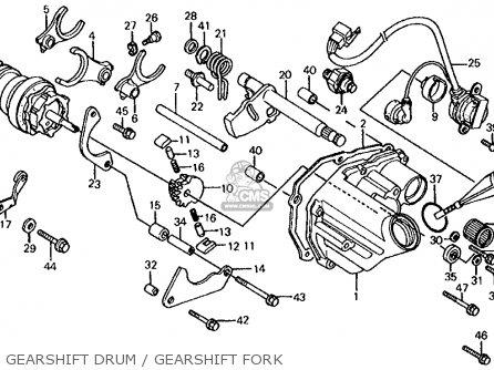 Honda Cb700sc Nighthawk S 1986 g Usa Gearshift Drum   Gearshift Fork