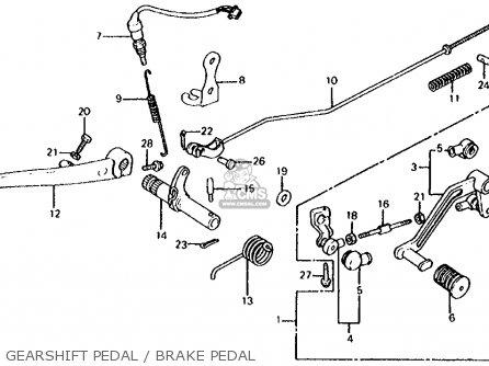 Honda Cb700sc Nighthawk S 1986 g Usa Gearshift Pedal   Brake Pedal