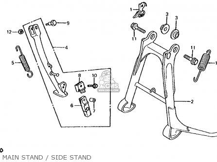 Honda Cb700sc Nighthawk S 1986 g Usa Main Stand   Side Stand