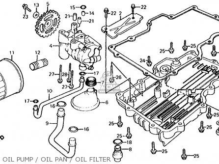Honda Cb700sc Nighthawk S 1986 g Usa Oil Pump   Oil Pan   Oil Filter