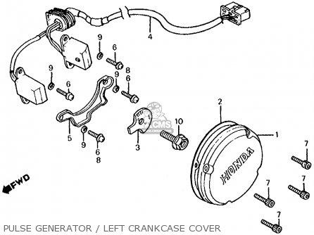 Honda Cb700sc Nighthawk S 1986 g Usa Pulse Generator   Left Crankcase Cover
