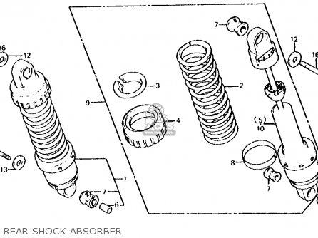 Honda Cb700sc Nighthawk S 1986 g Usa Rear Shock Absorber