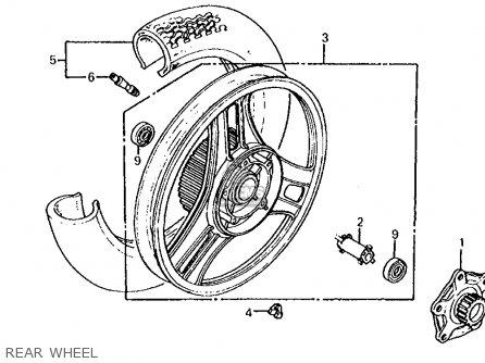 Honda Cb700sc Nighthawk S 1986 g Usa Rear Wheel