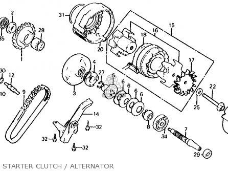 Honda Cb700sc Nighthawk S 1986 g Usa Starter Clutch   Alternator