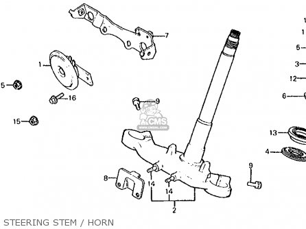 Honda Cb700sc Nighthawk S 1986 g Usa Steering Stem   Horn