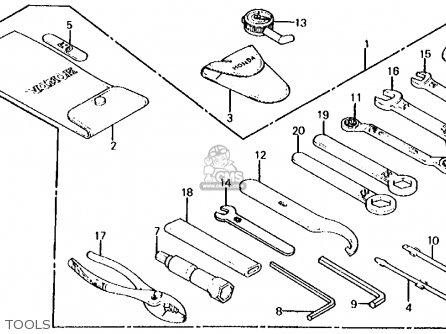Honda Cb700sc Nighthawk S 1986 g Usa Tools