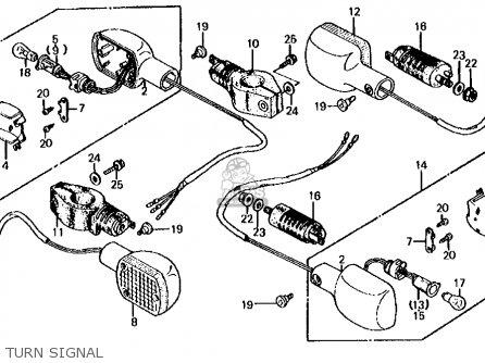 Honda Cb700sc Nighthawk S 1986 g Usa Turn Signal
