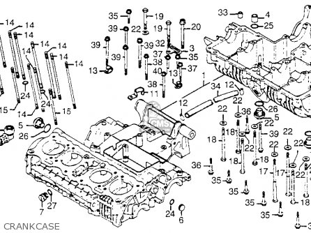 Honda Cb750 750 Four 1976 Cb750k6 Usa Crankcase