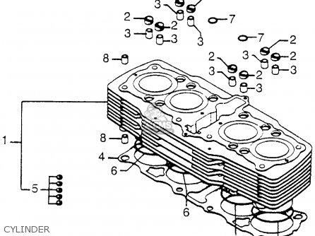 Honda Cb750 750 Four 1976 Cb750k6 Usa Cylinder